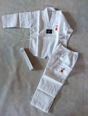 SALE:  TAEKWONDOAnzug BASIC - Taekwondo-Anzug - Dobok, Gr. 130