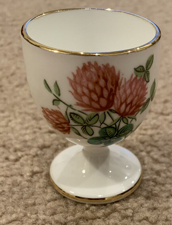 Vintage Hammersley Thistle And Clover Bone China Egg Cup England