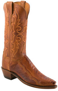 Womens-1883-By-Lucchese-Western-Boots-N4066-5-4-Brandy-Matte-Ostrich-Leg