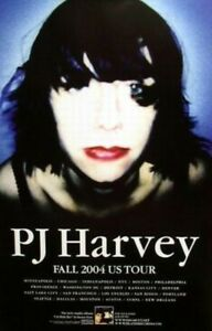 PJ HARVEY fall U.S. 2004 promotional tour poster Flawless NEW old stock