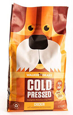 Walker and Drake Chicken with Vegtables Cold Pressed Dry Dog Food 10kg