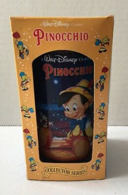Burger King Walt Disney PINOCCHIO Collector Series Plastic Cup Glass w/Box