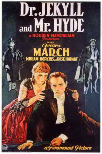 """Dr.Jekyll and Mr.Hyde (1931) Style-A Vintage Fredric March Movie Poster 27x40"""""""