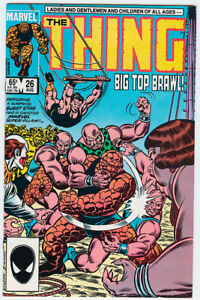 Thing #26 1985 Copper age Marvel comic book 2nd App. Taskmaster