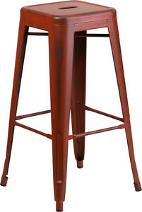 100 - RESTAURANT INDUSTRIAL TOLIX STYLE METAL BAR STOOL