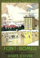 Font Romeu Chemins D'hiver French Ice Skating A3 Art Poster Print -  - ebay.co.uk