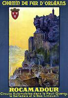 Chemin De Fer D'orleans Rocamadour Travel A3 Art Poster Print -  - ebay.co.uk