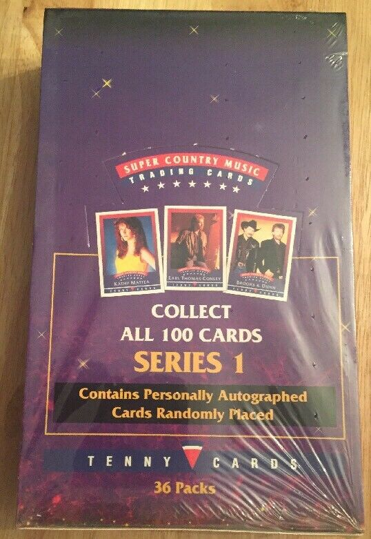 Super Country Music Series 1 Trading Cards by Tenny Cards - STILL SEALED!!