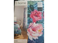 Catherine lansfield floral garden curtains 66x72""