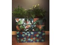 Decoupage Large Wooden Kitchen / Garden Patio Crate