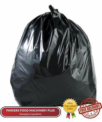 Bin Bags / Black Sacks 18x29x39 160 Gauge - Per 200 - Thick & Stong Rubbish Bags