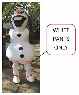 Schneemann Olaf Weiß Hose Maskottchen Kostüm Erwachsene Geburtstagsparty