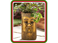 Tree Trunk Garden Planter