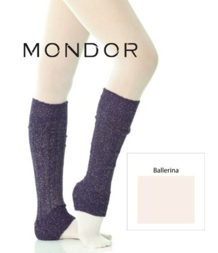 "CLEARANCE SALE Mondor Ballerina Dance & Figure Skating SPARKLE LEGWARMERS 19"""