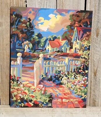 Gate Paint By Number - Paint by Number Painting GARDEN GATE Complete 16 X 20 Acrylic