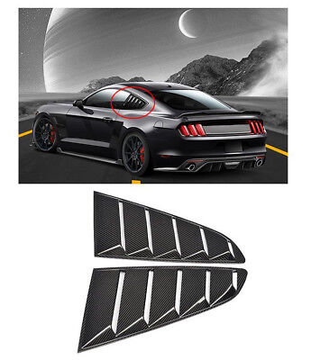 Carbon Fiber Black GT5 Vents Quarter Side Window Scoop Louvers for Ford - Side Air Scoop