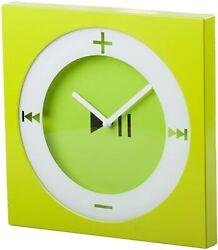 Lime Green Trendy Square Wall Clock, POP Art, Bright Green, Modern Decor
