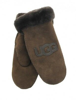 New UGG Mittens Chocolate (looks brown) L/ XL Model 5980 Logo Mittens         for sale  Saint Louis
