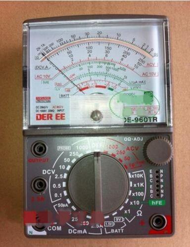First Analog Meter : De tr analogue analog multimeter electrical meters