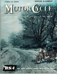 1958 Motor Cycle Magazine in Excellent Condition