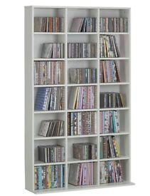 Brand New Islington White Media Storage Shelving Unit RRP £100 (Still flat-packed)