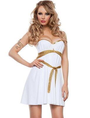 Sexy Starline Glamorous Greek Goddess White Dress 2pc Costume - Glamorous Goddess Costume