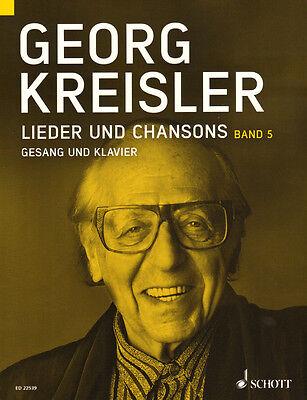 Georg Kreisler Lieder und Chansons Band 5 Songbook Noten für Gesang und Klavier