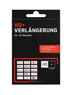 HD+ Karte-Verlängerungs CODE 12 Monate HDTV Plus Sender ASTRA SAT HD02,01,03,04