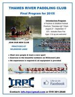 St. Marys Dragon Boat Team - Members needed for Stratford Races