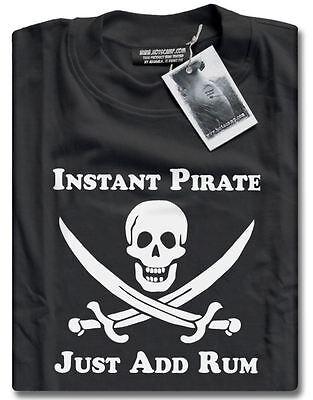 NEU Instant Piraten Just Add Rum Party Kostüm Herren Schwarzes (Herren Rum Piraten Kostüme)