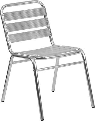 Lot Of 50 Aluminum Commercial Indoor-outdoor Armless Restaurant Stack Chair