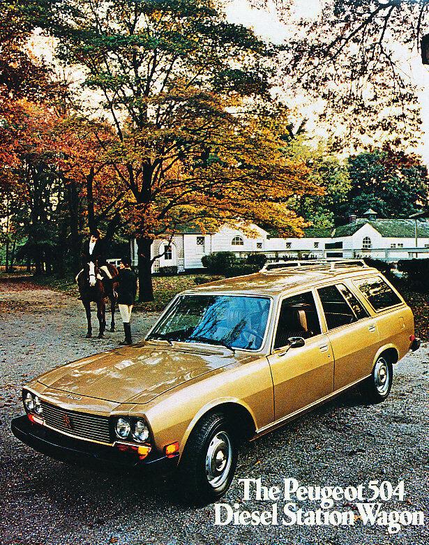 1976 Peugeot 504 Diesel Wagon Sales Brochure Sheet