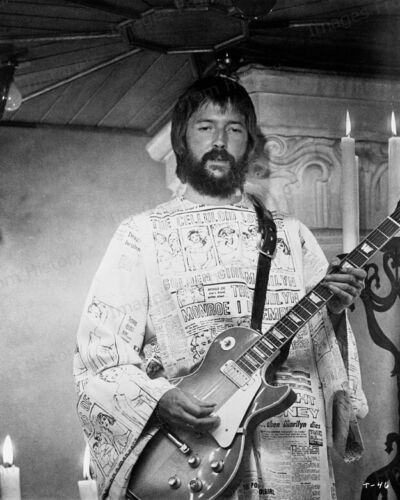 8x10 Print Eric Clapton on Stage Performing #5001