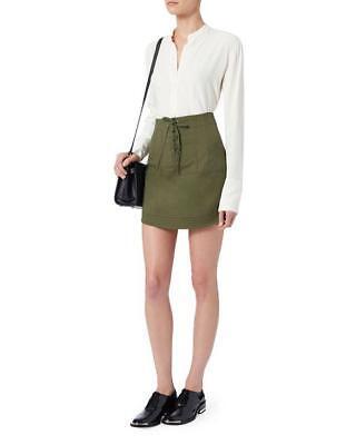 MARISSA WEBB Adley Canvas Skirt Army Green Size XS -