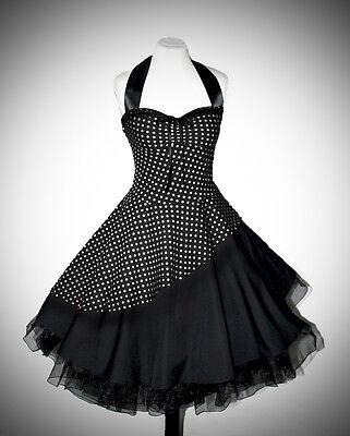 Petticoat Kleid rockabilly 50er Jahre schräg s/w