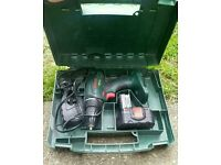 Bosch 14.4 v drill (bare) case and charger. The battery is knackered