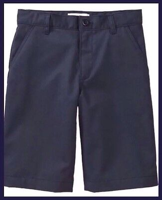 Old Navy Boy's Navy Blue Uniform Shorts, Size 8