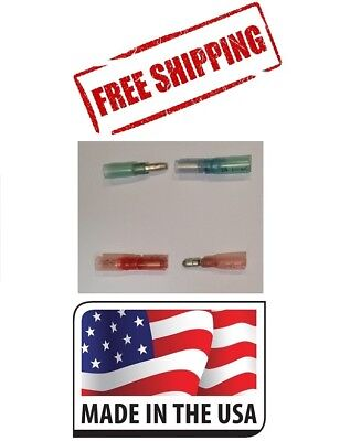 100 3M HEAT SHRINK BULLET CONNECTORS MARINE WATERPROOF 22-18 AND 16-14 AWG USA