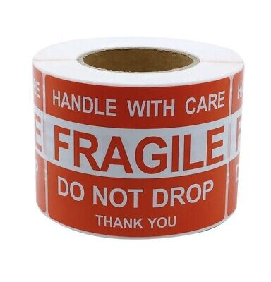 2 X 3 Fragile Handle With Care Thank You Labelsticker