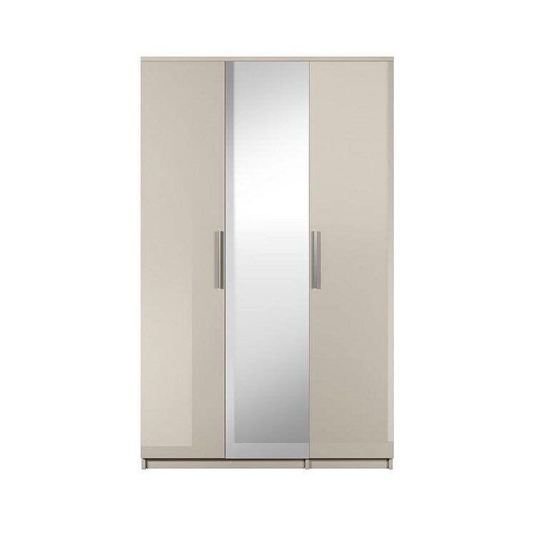 Prague Gloss 3-Door Mirrored Wardrobe (Brand New)