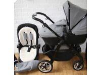 Silver cross pioneer special edition eton grey pram pushchair