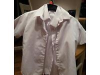 Reduced- X4 Girls white school shirts