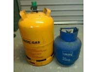 Butane gas cylinders for sale.