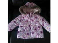 Girls winter coat 6-9 months,(more 9-12 I'd say) excellent condition