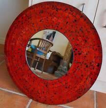 Red Ceramic Round Mirror (60 cm) Cleveland Redland Area Preview
