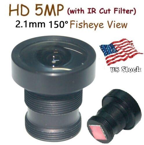 "Sunvision 1/2.5"" HD 5MP Monofocal 2.1mm 150° M12 Board Lens + IR Cut Filter FPV"