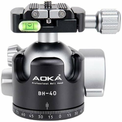 AOKA BH40 40mm Low Profile Ball Head Arca /RRS Compatible w Independent Pan Lock