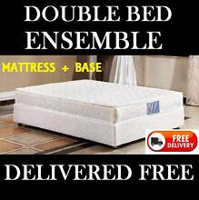 DOUBLE BED Ensemble - Pillow Top Mattress PLUS Bed Base New Farm Brisbane North East Preview