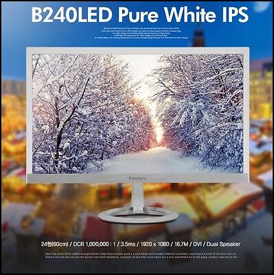 "Bitm - Newsync B240 LED Pure White 24"" IPS / WIDE 16:9 / 1920 X 1080 FHD Monitor"