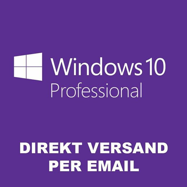 Windows 10 Professional Win 10 Pro 32/64 Bits Product Key Aktivierung Online